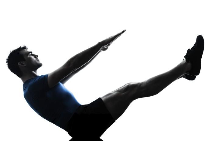 Trainingsübung Gestreckte Adduktoren-Crunches