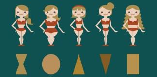 5 verschiedenen Körperformen illustratorisch dargestellt