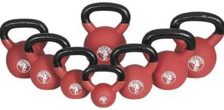 """Kettlebells """"Red Rubber"""" von Gorilla Sports in mehreren Größen"""
