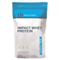 Eine Packung der Eigenmarke MyProtein Impact Whey