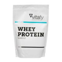 Eine Packung der Eigenmarke vitafy Essentials Whey Protein